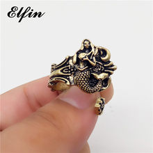 Elfin Vintage Retro Adjustable Mermaid Rings Women Men Rings Jewellery Anillos Mujer Warcraft(China)