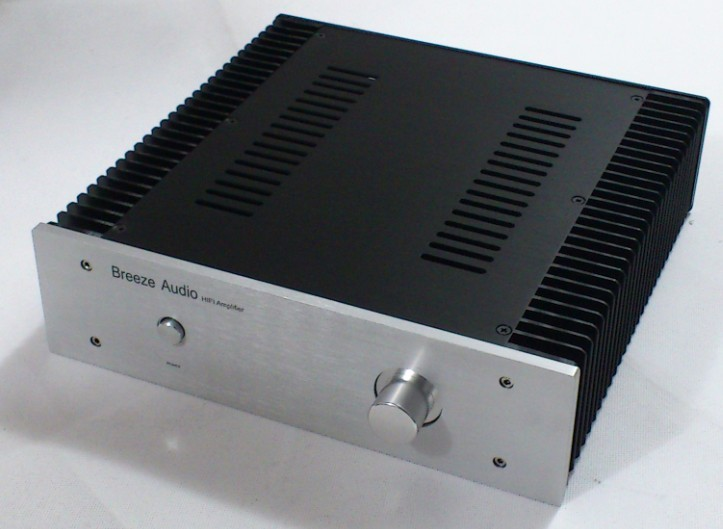 Breeze Audio-Full aluminum Power amp Enclosure Case W:320mm X H:90mm X D:300mm