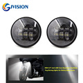 DOT Approved 2 PCS Black 4.5 inch led passing light led fog lamps for Harley Davidson Motorcycles Auxiliary light Bulb