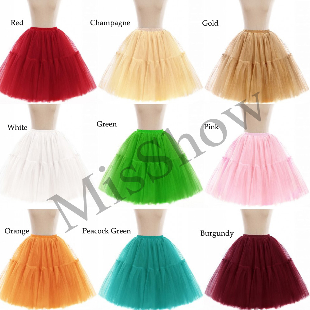 Купить с кэшбэком 2019 A-Line Short Petticoat Colorful Short Underskirt 6 layers Bridal Tulle Petticoats For Wedding Dress Wedding Accessories