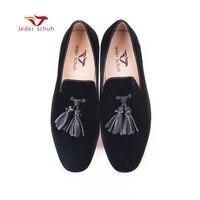 Для мужчин кожаные лоферы с кисточками в простом стиле на плоской подошве для свадьбы и вечеринки мужская обувь