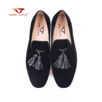 Men Loafers Leather Tassel Design Simple Style Flats Wedding And Party Man Shoes