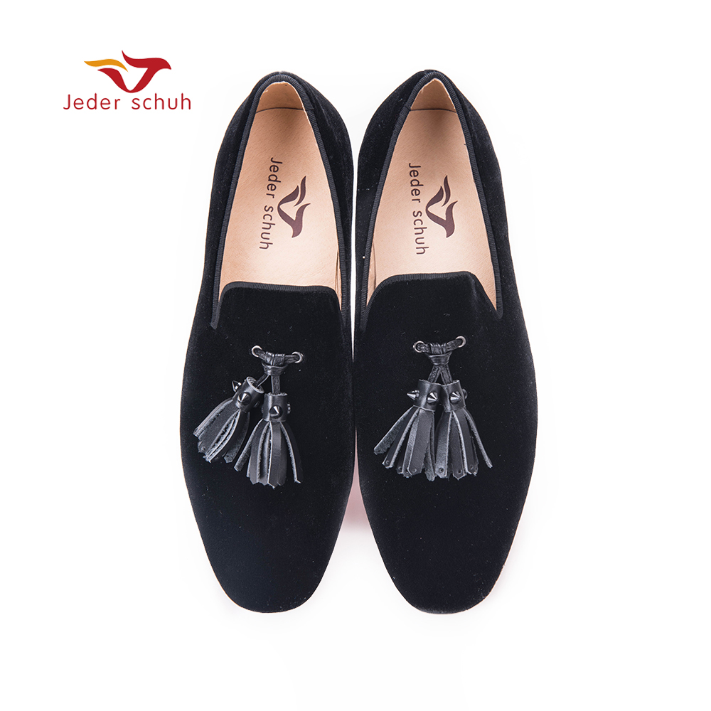 Men loafers leather tassel design simple style flats wedding and party man shoes men loafers paint and rivet design simple eye catching is your good choice in party time wedding and party shoes men flats