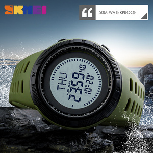 Image 5 - SKMEI Compass Hodinky Men Clock Sports Watches World Time Watch Countdown Chrono Waterproof Digital Wristwatch Relogio Masculino