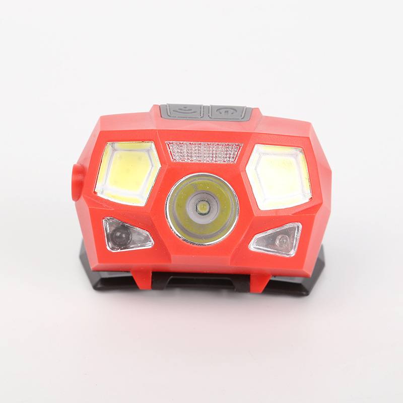 2019 New Sports Sensor USB Charging Black Red Portable Comfortable Environmental Protection Safety Lighting Camping Headlights in Flashlights Torches from Lights Lighting