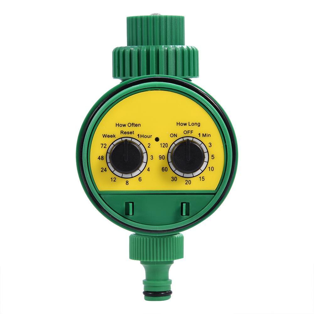 Многофункциональный таймер для полива сада с двумя циферблатами автоматический электронный таймер полива сада контроллер системы полива - Цвет: Зеленый