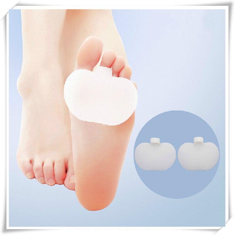 2 шт./пара уход за ногами женщины высокий каблук Силиконовые стельки протектор Медицинской силикагель силиконовые стельки, Стельки Toe защиты D20