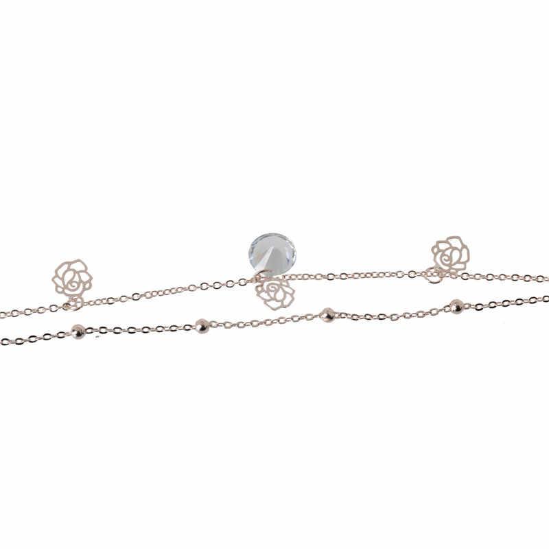1 шт., новинка, ножной браслет с цветком розы, женские Дешевые ножные браслеты, браслет на ногу, женские Украшения для ног