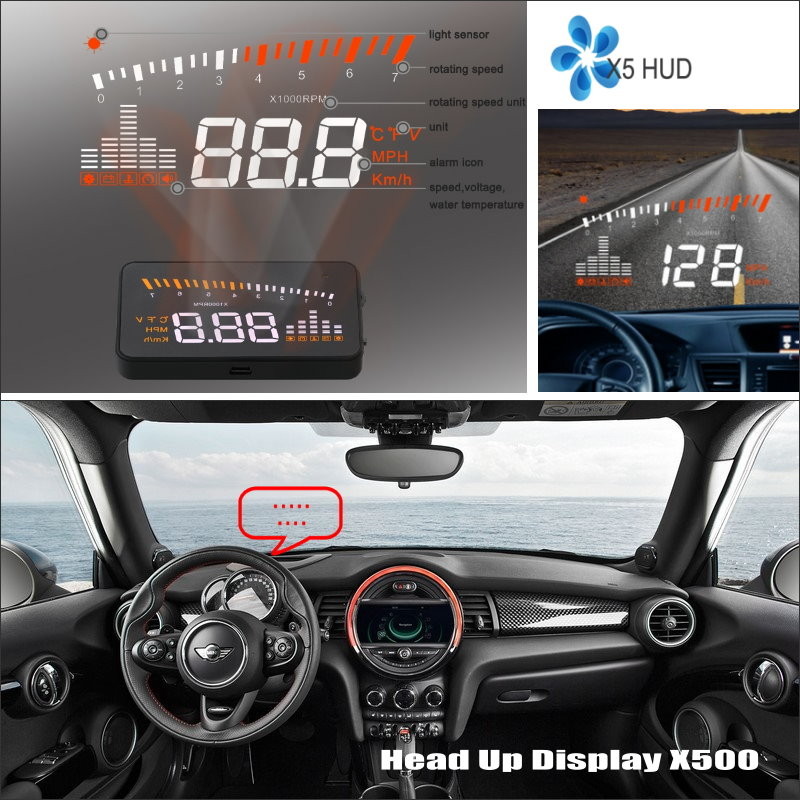 liislee car hud head up display for mini cooper r55 r56. Black Bedroom Furniture Sets. Home Design Ideas