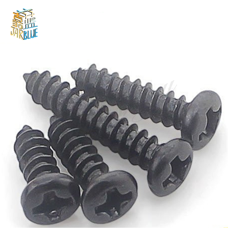 100Ps/Set Black M2x10mm Thread-Forming Screws Cross Head Screws For Plastic Wooden Jewelry Box Self tapping Computer Case Screws image