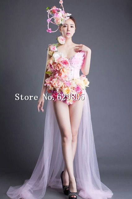 Pink Flower Party Dress