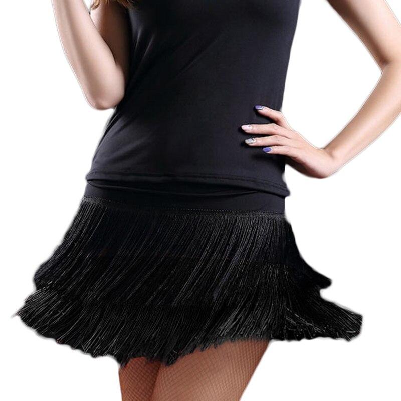 2018 Hot Sale Adult Lady Dance Dance Skirt Women's Double Tassel Latin Dance Skirt Fringed Skirt Contains