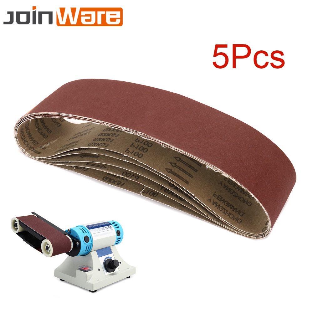 5Pcs Sanding Belt 4 x 36 100MM X 915MM Grinding Polishing Oxide Sander Belts For Wood Buffing 60/80/100/120/150/180/240/320#