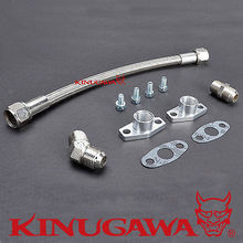 Kinugawa Turbo Oil Drain Line Kit 35cm 8AN for Garrett GT28 GT30 GT35