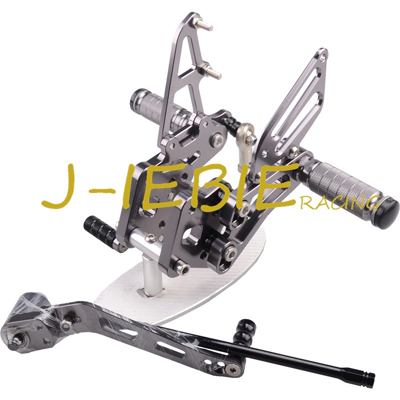 CNC Racing Rearset Adjustable Rear Sets Foot pegs For Suzuki GSXR 600 750 GSXR600 GSXR750 2006 2007 2008 2009 2010 K6 TITAINUM new motorcycle ram air intake tube duct for suzuki gsxr600 gsxr750 2006 2007 k6 abs plastic black