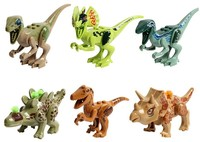 6pcs Set Dinosaurs Of Jurassic World Building Blocks Mini Bricks Figures Kids Baby Toys For Children