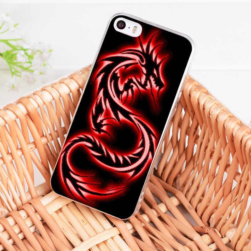 MaiYaCa Ốp Điện Thoại Rồng Thiết Kế In Hình Mềm Mại Ốp Lưng Trong Suốt dành cho iPhone 11 Pro 7 6 6S 8 Plus 5 5S SE X Coque