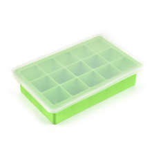 With Cover Lid Ice Box/DIY 15 Cubes Silicone Ice Lattice Mold/Ice Cube Frozen Making Tool Ice Cube Tray Kitchen Bar Accessories