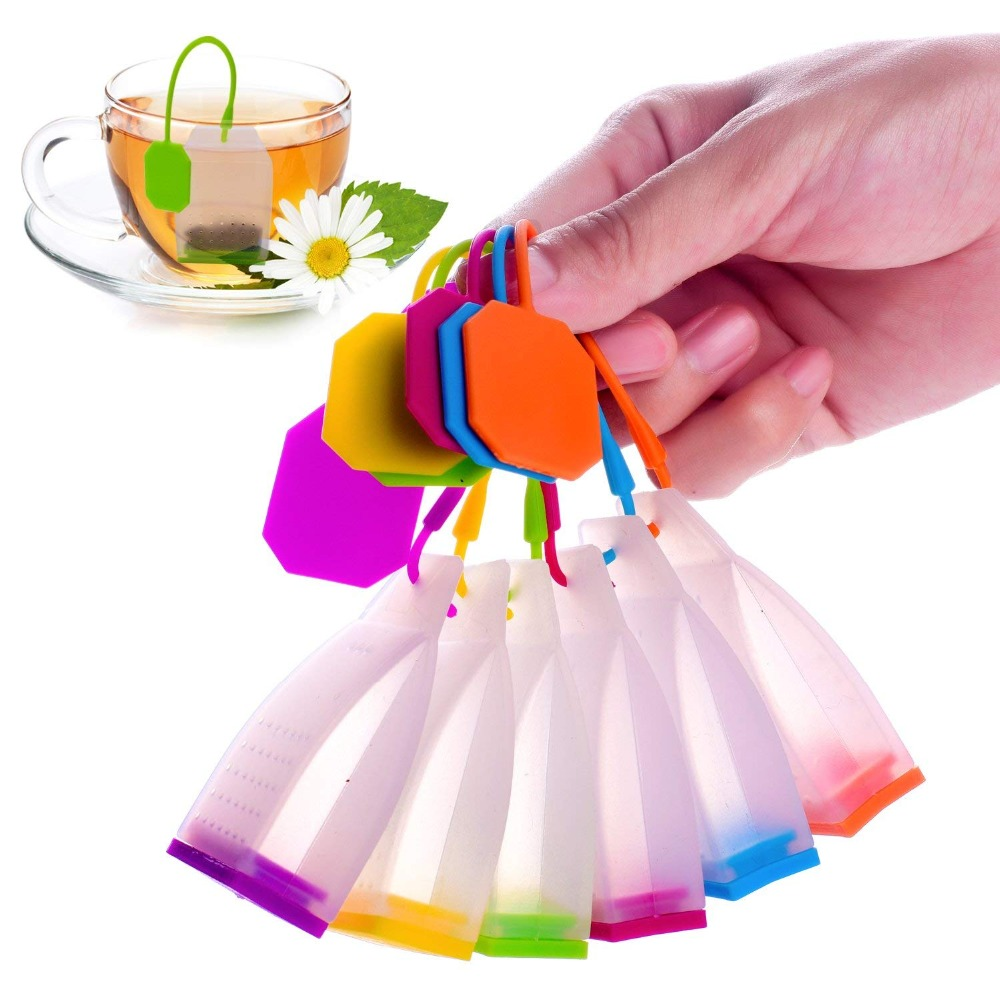 1Pcs Bag Style Silicone Tea Infusers Tea Strainers Herbal Spice Tea Infuser Filters Scented Kitchen Coffee Tea Tools