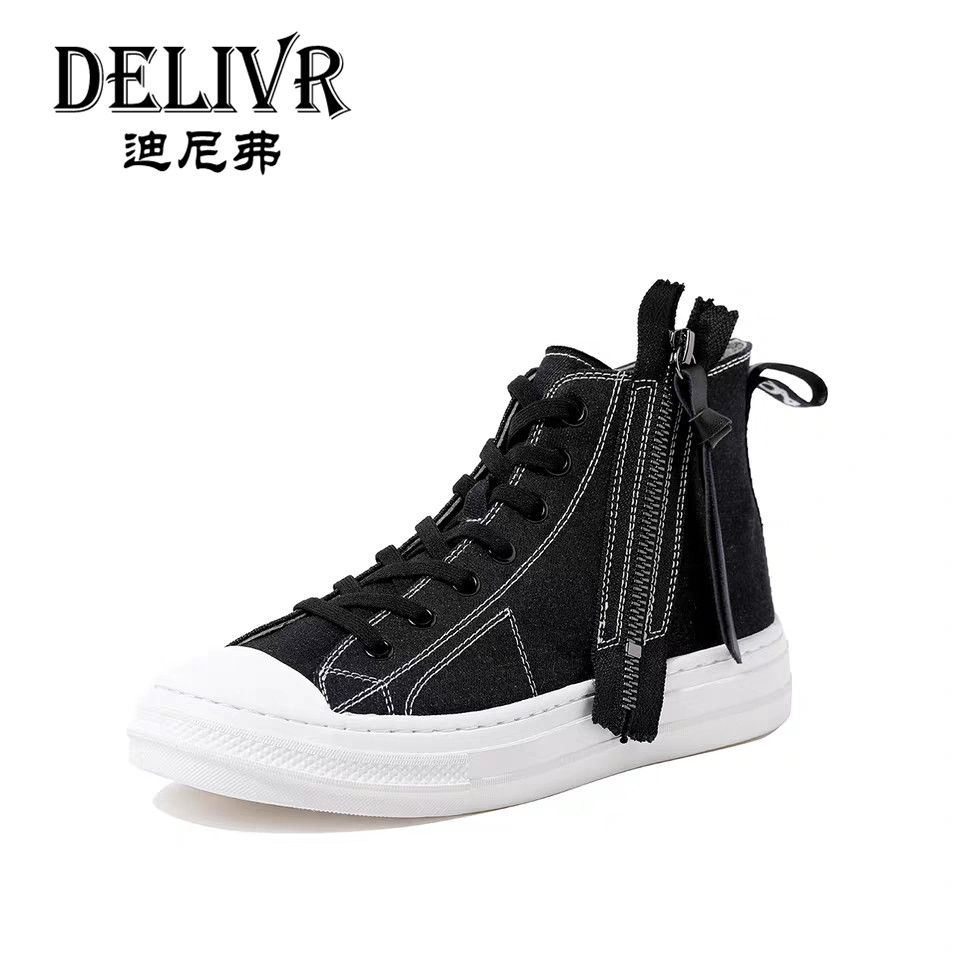 Delivr Black High Top Women Flats Vulcanized Shoes Canvas Fashion Female Lace Up Vulcanized Shoes WomenS Casual Shoes 2019 NewDelivr Black High Top Women Flats Vulcanized Shoes Canvas Fashion Female Lace Up Vulcanized Shoes WomenS Casual Shoes 2019 New