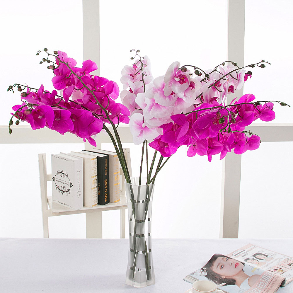 10pcs Home Decorative Real Touch Artificial Flower Japanese Silk ...