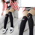 lovely girl's stockings leggings kids splice thick baby girls Devil Cat cotton Stitching pantyhose