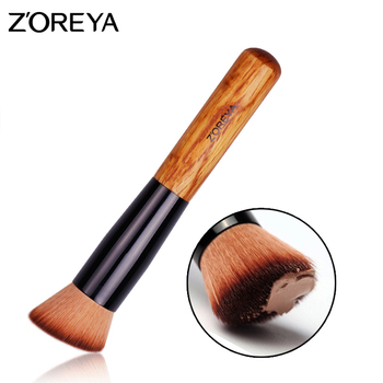 Zoreya Brand Lady  Oblique angle Multi-Function Pro Concealer  Make  up Brush wooden handle Brush Cosmetics