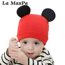Solid Ear Child Baby Beanies Cap Boys Girls Caps Kids Cotton Knitted Newborn Accessories Infant Hat