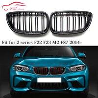 F22 Carbon Fiber Front Bumper Grille Replacement Kidney Grill for BMW 2 series F22 F23 F87 M2 220i 228i M235i M240i 2014 +