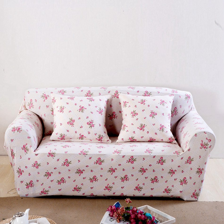 Remarkable Us 14 35 59 Off Pink Flowers Couch Sofa Covers For Living Room Loveseat Spandex Corner Sofa Slipcovers Universal Stretch Furniture Covers Plush In Onthecornerstone Fun Painted Chair Ideas Images Onthecornerstoneorg