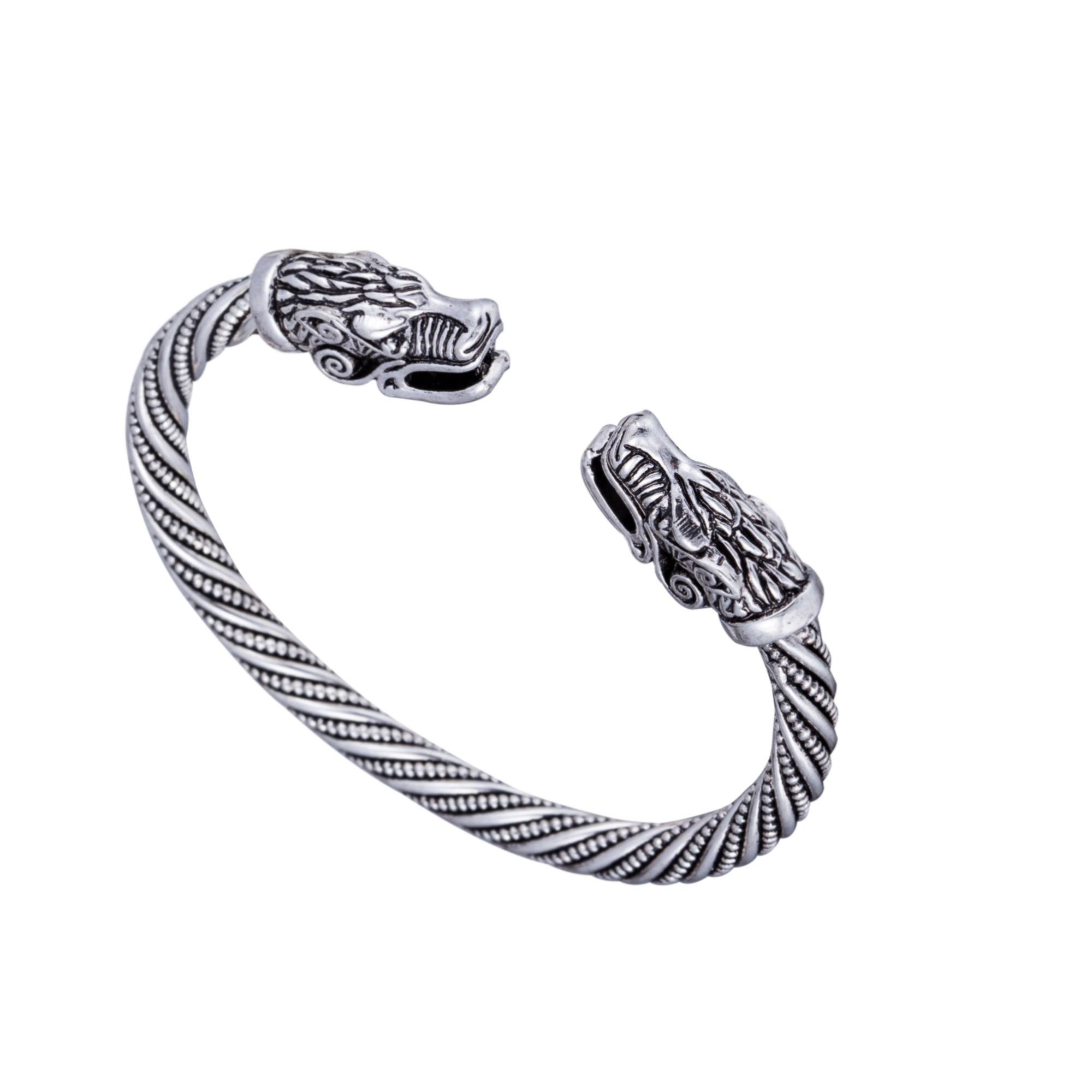 knot silver men img twist and gold double bracelet bangles tone bangle two