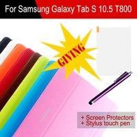 Original 1 1 Case For Samsung GALAXY Tab S 10 5 T800 T805 Fashion Logo Stand
