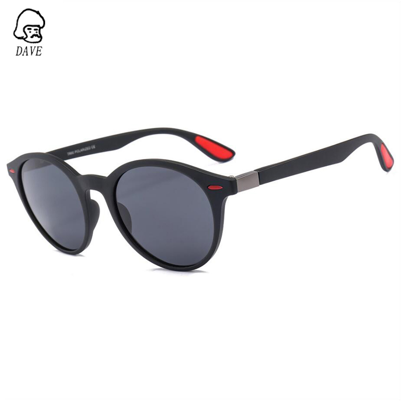 DAVE Oval Polarized Sunglasses Men Brand Design TR90 Frame High-Quality Goggle Driving Mirror Male Outdoor Eyewear With Case