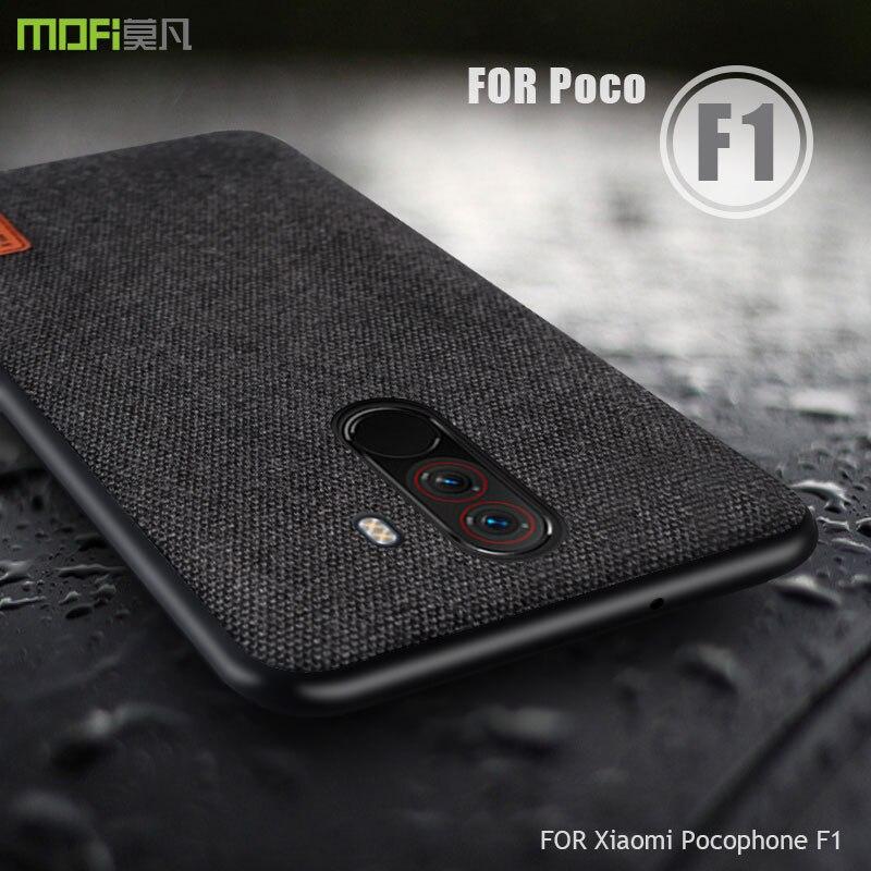 Teléfono móvil F1 funda MOFI para xiaomi teléfono móvil F1 cubierta de tela caso poco F1 mundial de silicona borde completo cubierta mate