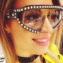 Square  Pearl Frame Sunglasses