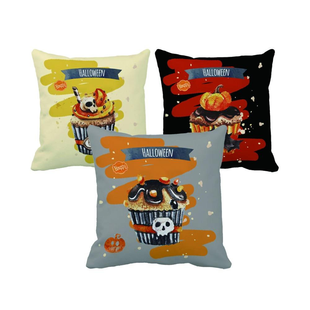 Retro Cushions Us 14 98 Halloween Style Funny Cupcake Print Custom Retro Decorative Pillows Chic Cushions For Sofa Bed Home Decor Throw Pillow Gift In Cushion From