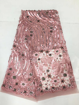 Selling high quality guipure lace fabric African cord lace fabric for nigerian France lace fabrics women party dress CD20