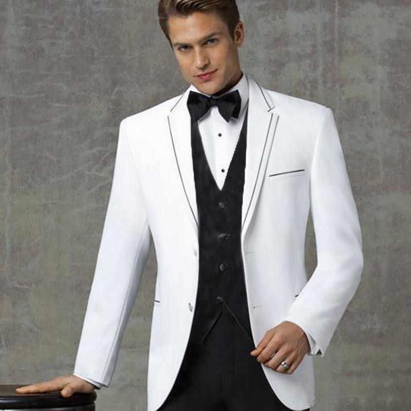 Thorndike 紳士ホワイトノッチラペルメンズスーツフォーマルなスリムフィットタキシード、カスタマーオムスーツ男性の結婚新郎の摩耗 3 ピース