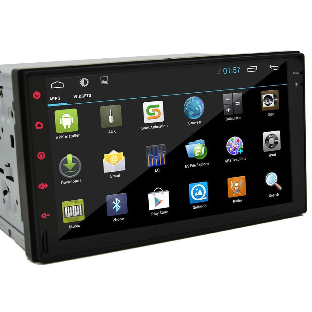 pure android 4 2 car audio gps navigation 2 din car stereo. Black Bedroom Furniture Sets. Home Design Ideas
