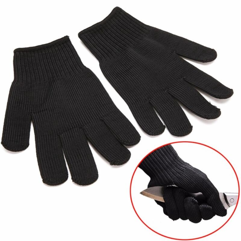 Safety Cut Proof Outdoor Working Gloves Protective Cut-Resistant Anti Abrasion Tear Safety Glove For Gardening top quality 304l stainless steel mesh knife cut resistant chain mail protective glove for kitchen butcher working safety