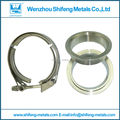 2.25''Quick release VBand/V-band /v band clamp with M/F flange for the Auto exhaust pipe