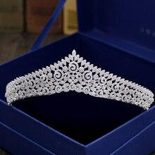 Fashion retro luxury palace crystal CZ zircon crown wedding bride dinner banquet dressing Beauty tiaras jewelry free shipping
