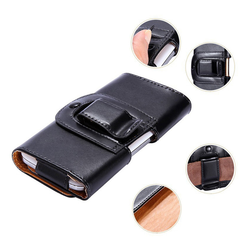Universal Sport Outdooor Flip Leather Belt Buckle Clip Holster Case Cover For Fly evo energy 5 IQ4504 5inch Mobile Phone bags