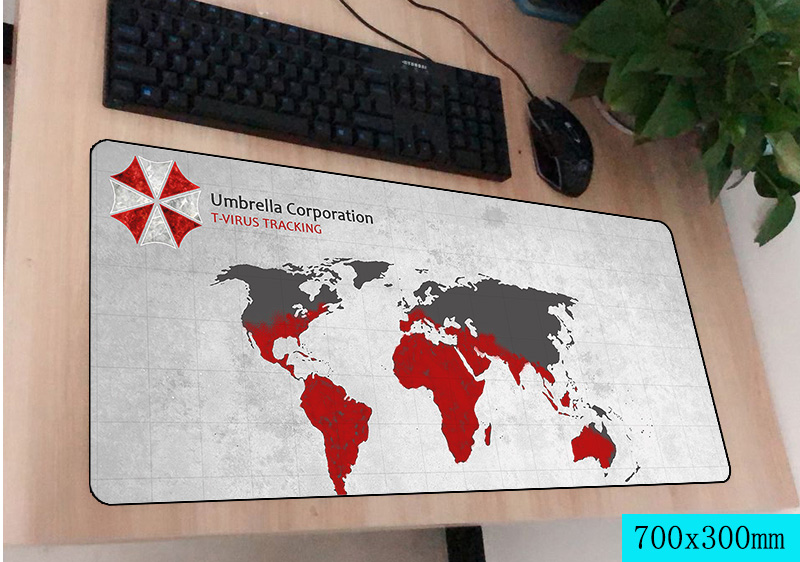 resident evil mouse pad gamer 700x300mm notbook mouse mat large gaming mousepad large Fashion pad mouse PC desk padmouse