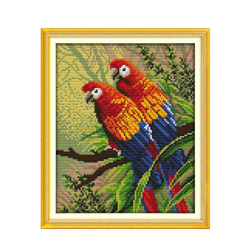 Cross Stitch Kit White parrot