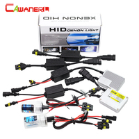 Cawanerl H7 55W HID Xenon Kit AC Ballast Lamp Canbus Decoder Harness No Error Anti Flicker
