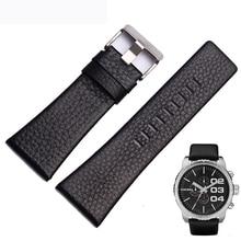 WOMEN Genuine Leather WatchBand for Diesel DZ4323 DZ1405  Man  Sport Watch Strap with Screw Stainless Steel Pin Buckle+Free Tool