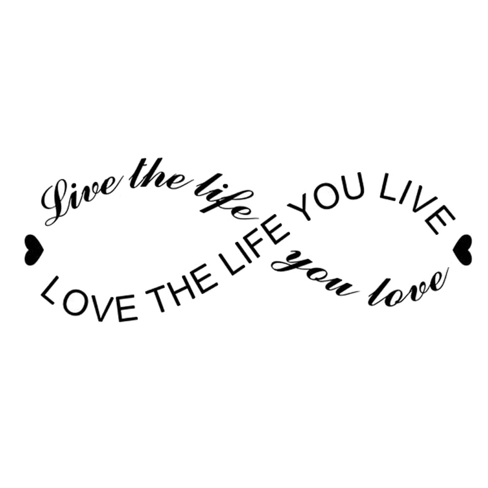 Fashion English Motto Stikers Love Life Poster Diy Meaningful Adesivo De Parede New Modern Living Room Wall Sticker
