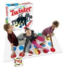 Twister Тела игры друг Семья Забавные игрушки Английский инструкции координации упражнения гаджетов классические детские открытый спортивные игры