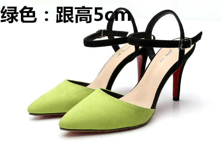 ФОТО High thin heels pointed toe women's shoes small yards 31 32 33 plus size 40 41 42 43 sandals free shipping